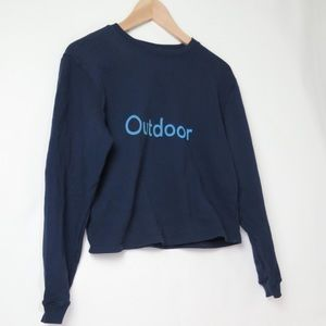Outdoor Voices logo spell out crop sweatshirt XS